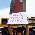 Marcha en CU y protestan en La Rectoría d la UNAM por detenidos del #20NovMX #YaMeCanse #Ayotzinapa #TodosSomosCompas http://t.co/924Ms9Tyfv