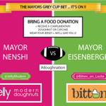 Free doughnuts! Check out our food drive, in support of @nenshi + @FredEisenbergers #greycup bet! #doughnation #yyc http://t.co/k2RYp68jAO