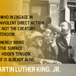 We who engage in nonviolent direct action are not the creators of tension... -MLK #ShutItDown #BlackLivesMatter http://t.co/0mw70uiS4e
