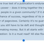 RT @rafat: What defines success for media companies/startups, smart by @johnbattelle http://t.co/BZJDHwhpln