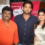 Kannada stars @jaggesh2 @rakshitshetty #Aishani Shetty at audio launch of @VaastuPrakara http://t.co/Fq3yv8uPMy
