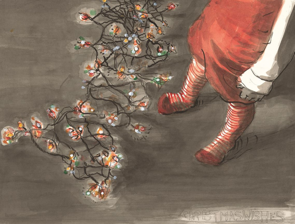 We're getting in the Christmas mood with David Claerbout's 'Christmas Wishes' on view in our M HKAFE! http://t.co/zc1CohAPii