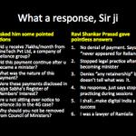 "@durgeshrjkumar Does Ravi Shankar Prasads ""response"" answer any of #AAP Qs? #BJPScamsBegin ;) > http://t.co/JT4UL8SwIF"""