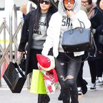141219 Me and Hyorin Arrived @ KBS Music Bank http://t.co/1qgI35dqro