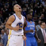 Steph Curry goes off for 34 points as Warriors beat Thunder, 114-109. Golden State improves NBA-best record to 22-3. http://t.co/ctACZkBat6