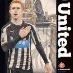 Jack Colback med hånda på Newcastle-emblemet valgt som forside på programmet til søndag. Da er lista lagt…#TyneWear http://t.co/UVE6gTA1eO