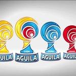 Estos serán los nuevos logos del Fútbol Profesional Colombiano. @BAVARIA_SA y @CervezaAguila http://t.co/s91G4ywStt
