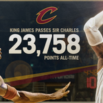 Congrats @KingJames!  Moving up the all-time pts list passing Sir Charles. http://t.co/1CnrUFBfMx