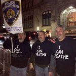 "NYPD wearing, ""I can breathe"" shirts.  #LetThatSinkIn http://t.co/EYwelF8YaO"