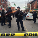 NYPD with military-style gear after two officers shot inside their car in Bed-Stuy, Brooklyn http://t.co/jmzh1UwlvX http://t.co/nST7Y8wa2t