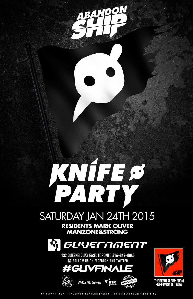 Performing at the last #SpinSaturday at The Guv, on January 24th, we welcome @KnifeParty! #GuvFinale http://t.co/vxRaL8Rhml