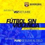 Hoy que se viva una verdadera fiesta deportiva #FutbolSinViolencia http://t.co/C8ceFammAl