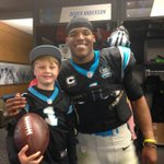 George Gring (@GoMightyGeorge) spent some time with @CameronNewton after todays big win. http://t.co/iOPBj5rvLH