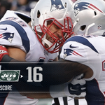 Patriots win! Pats hold on in NJ & come away with a win over the Jets & secure a 1st round playoff bye. #NEvsNYJ http://t.co/o1OVS98lx1