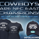 Cowboys Win the NFC East! Get your 2014 NFC East Champs Gear Now from Dallas Cowboys Pro Shop! http://t.co/MXIpcsSTsx http://t.co/jFCwCmxJb4