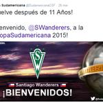 Así recibe el Twitter oficial de la Copa Sudamericana a Santiago Wanderers de Valparaíso. http://t.co/ONO0Ztj1fV