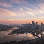 The morning sky put on a helluva show over #Pittsburgh today. Awesome light, stunning colors and our beautiful city! http://t.co/31WfyWyCjM