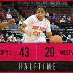 HALFTIME: Ohio State 43, No. 18 West Virginia 29 #GoBucks http://t.co/aiwSo54zKh