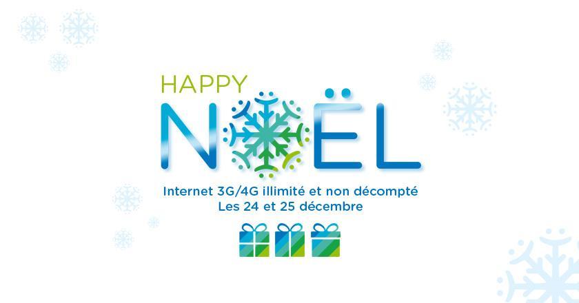 Les 24 et 25 décembre, surf 3G/4G illimité et non décompté pour tous les clients Bouygues Telecom ! #NosClientsDabord http://t.co/Wbj80dGbLk
