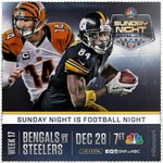 The Battle for the North will be on #SNF! Who do you think will win? #Game256 RT for @steelers FAV for @Bengals http://t.co/iHrJMPgwH7