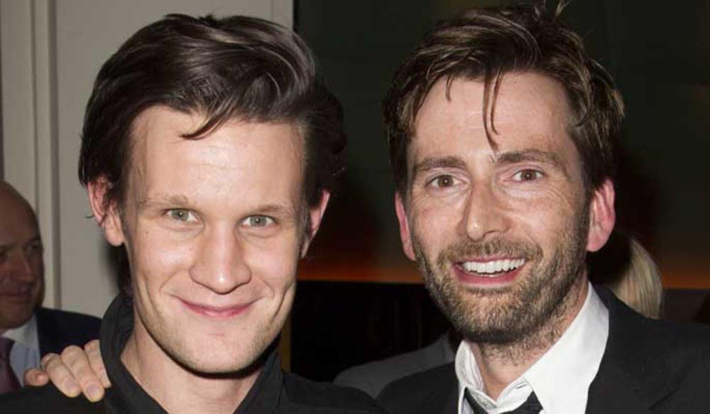 David Tennant Daily Photo!  David with Matt Smith  #DavidTennant #DoctorWho http://t.co/Cm5omR8UPv