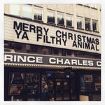 Prince Charles and I wish you a very Merry Christmas from the cheery streets of London. Ya filthy animal. http://t.co/7UmHeeLQ70