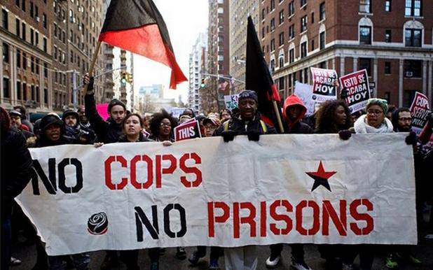 """No cops, no prisons""... America you have an intelligence crisis. http://t.co/edErqrAHJU"