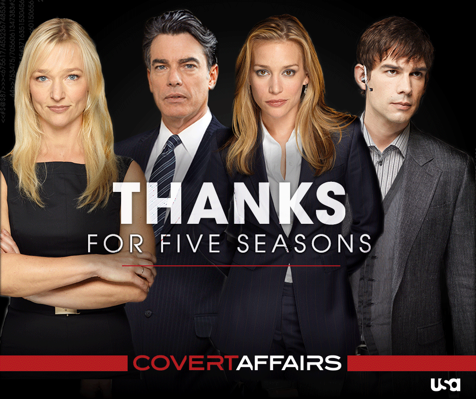 It's been an incredible five seasons. Thanks for always being a part of the Covert Affairs mission. http://t.co/WfDBsn6e09