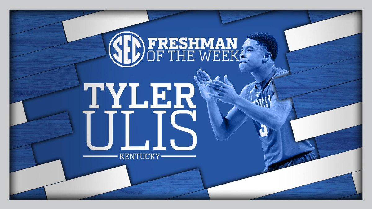 Kentucky's Tyler Ulis named SEC Freshman of the Week http://t.co/VBzTPTEwf5