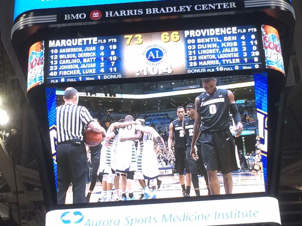RT @PresLovell: Congrats to @steve_wojo and #MUBB on first Big East win. http://t.co/qZSZtvMNZ5