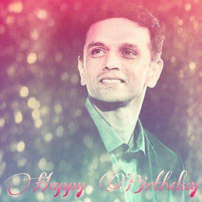 Happy birthday to wall Rahul dravid.. :-)