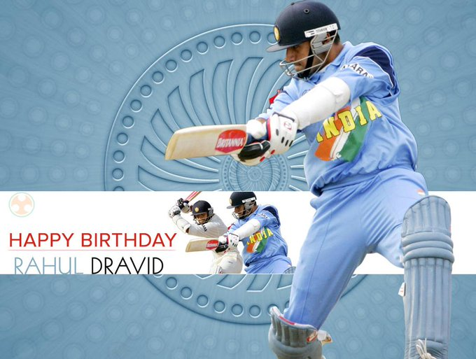 Yuva Desh wishes a very Happy Birthday to the legendary Rahul Dravid, \The Wall\ of Indian Cricket.