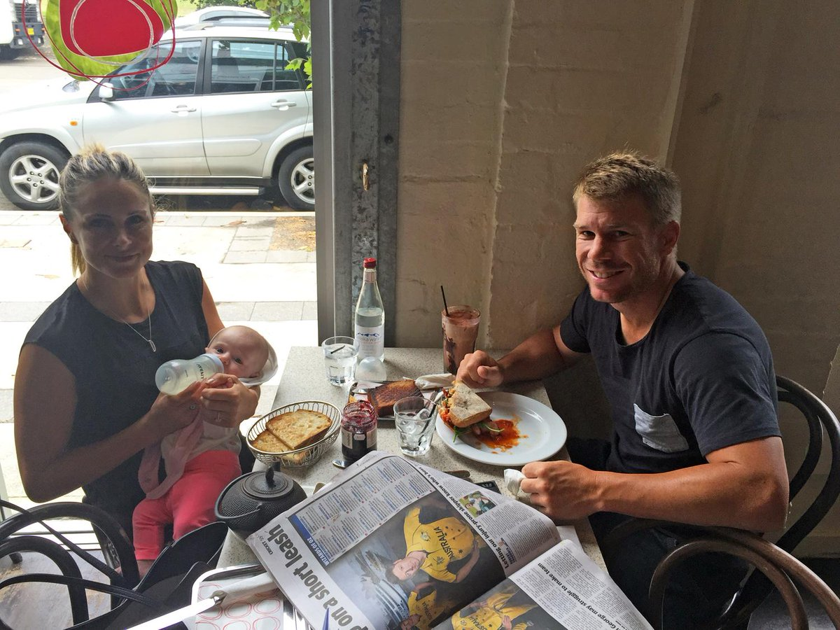 Thanks @davidwarner31 @CandyFalzon and their lovely daughter Ivy Mae for visitng us today! Hope you enjoyed! http://t.co/vJJ5W0yFfv