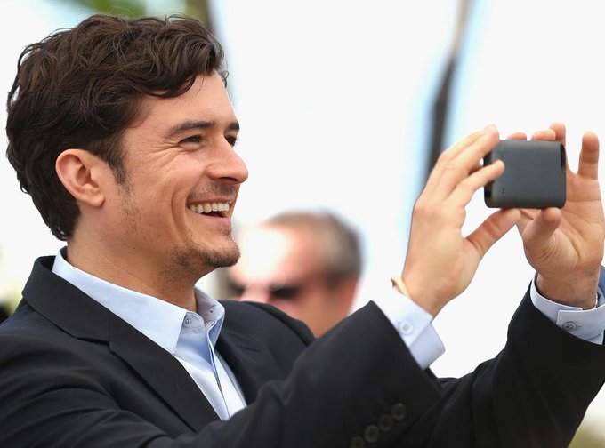 Happy 38th Birthday to today\s über-cool celebrity taking an iPhone camera pic @ Cannes Film Festival: ORLANDO BLOOM