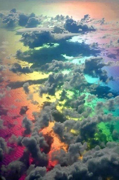 Amazing Picture Taken From a Plane Above Clouds and a Rainbow. http://t.co/jjru3xpER0
