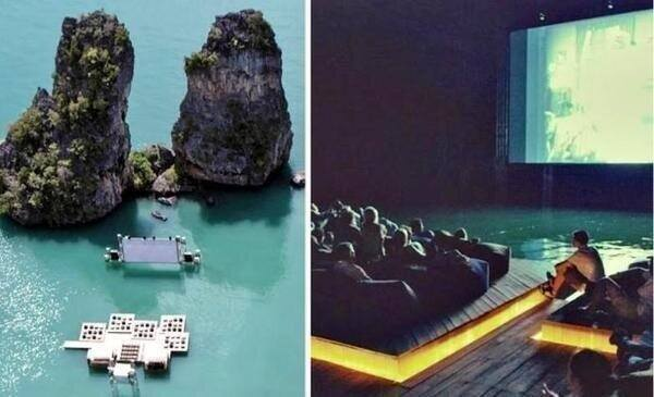 There is a floating cinema in Thailand. http://t.co/T3E44l9Tjd