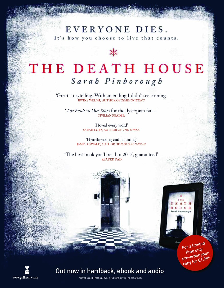 Want to read #DeathHouse before it hits bookshops? To enter to win a copy RT by 11.59pm on 18.01.14 @SarahPinborough http://t.co/o4Krlp3CLj