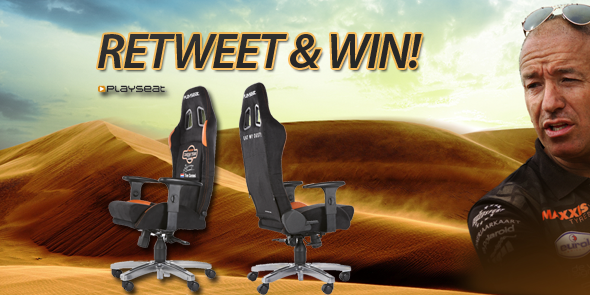 One more giveaway to celebrate: RT to win this awesome @PlayseatHQ Office Seat! #Dakar2015 #maxxisdakar http://t.co/NdKWDaYZU5