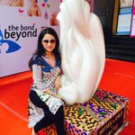 Best wishes always to my dear friend @ROUBLENAGI posing with her beautiful creation : Mother & Child! http://t.co/puNQyX7WXC