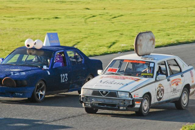 Absurd things you see at @24HoursOfLeMons: Cookie racecar dueling Cookie Monster racecar at Sonoma yesterday http://t.co/NRdDE8Dr31