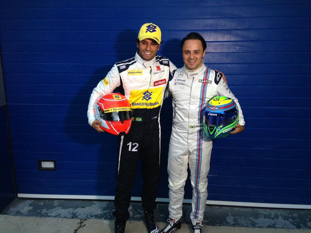 Os Felipes @FelipeNasr @MassaFelipe19 em Jerez de la Frontera #F1naGlobo http://t.co/iRZ7uycKNF