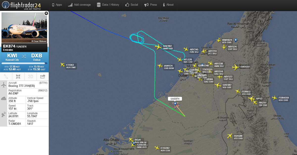 Emirates ek874 diverted to dubai world central when dubai emirates ek874 diverted to dubai world central when dubai international was closed because of drone gumiabroncs Image collections