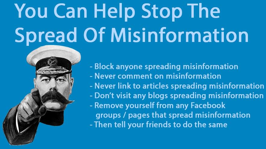 Don't know who made this but it's wise advice... Misinformation makes everyone a victim. #Suggestion http://t.co/0fGkKFqd7j