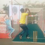 Apna RJ Suren in his bowling avtar. Catch @MeeMeera and RJ Suren live at Inorbit mall malad. Come join all the fun!! http://t.co/QOBDlUAZXm