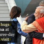 #Modi hugs #Obama at start of three-day #India visit Read more: http://t.co/ZP8nxP2FEV #ObamaInIndia #Obamavisit http://t.co/kMq9egx7pe