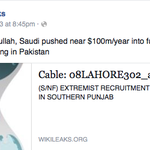 Under #KingAbdullah, Saudi pushed near $100m/year into fundamentalism + terrorism training in #Pakistan. http://t.co/Xx78vFJFgj