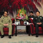 General Raheel Sharif in China with Gen Gan Changlong in Beijing. http://t.co/E6JIVARHsV