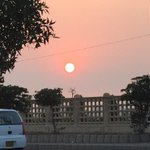 Beautiful #karachi evening! Orange sun! #lovemykarachi http://t.co/6GKaeiz5wq
