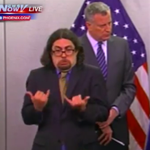 You know whos NOT phoning it in? The sign language interpreter at @BilldeBlasios Blizzard presser #juno2015 . http://t.co/BT2EesOail
