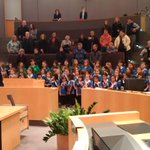 Many thanks to the Kitchener Sparks, Brownies, Guides & Pathfinders  singing O Canada to open @citykitchener council http://t.co/H9ewwWzBpn